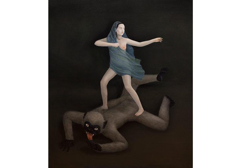 AYLİN ZAPTÇIOĞLU -İSİMSİZ / UNTITLED2017Tuval üzerine yağlı boya / Oil on canvas140 x 116 cm