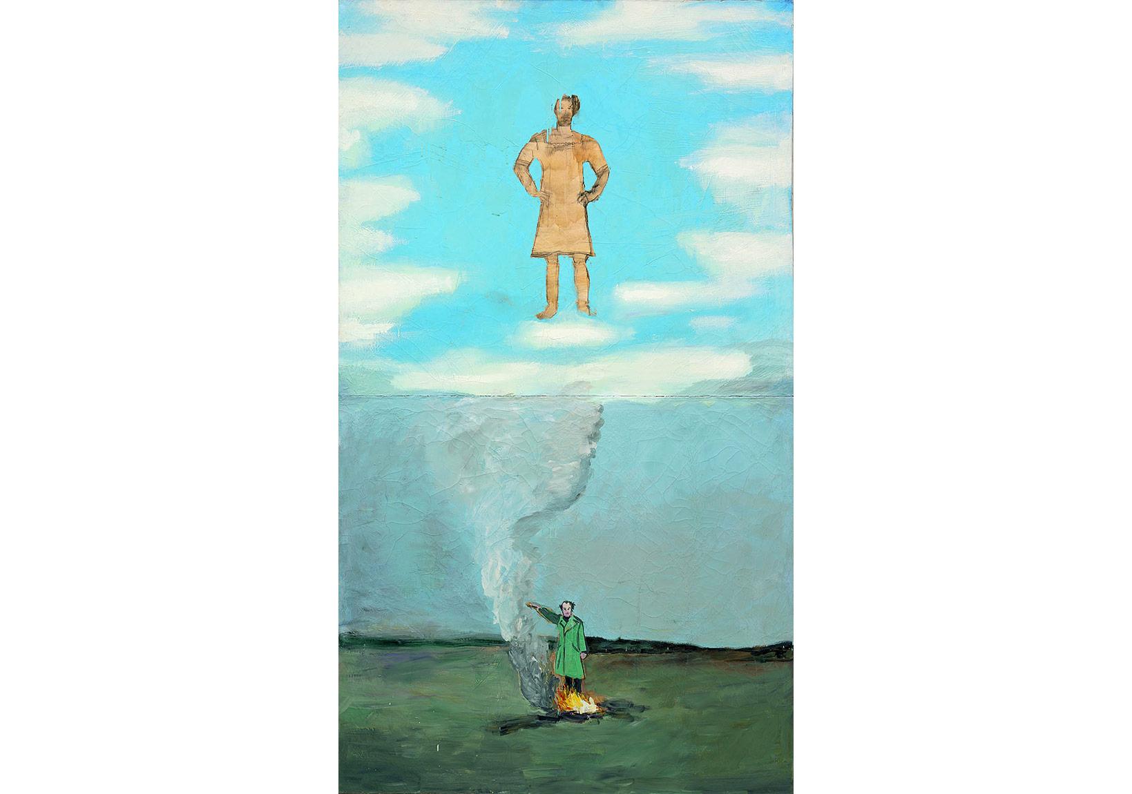 Heroisches Sinnbild I [Symbole héroïque I], 1969-1970 Huile et fusain sur toile260,5 x 150 cmCollection Würth, KünzelsauPhoto: © Jörg von Bruchhausen, Berlin