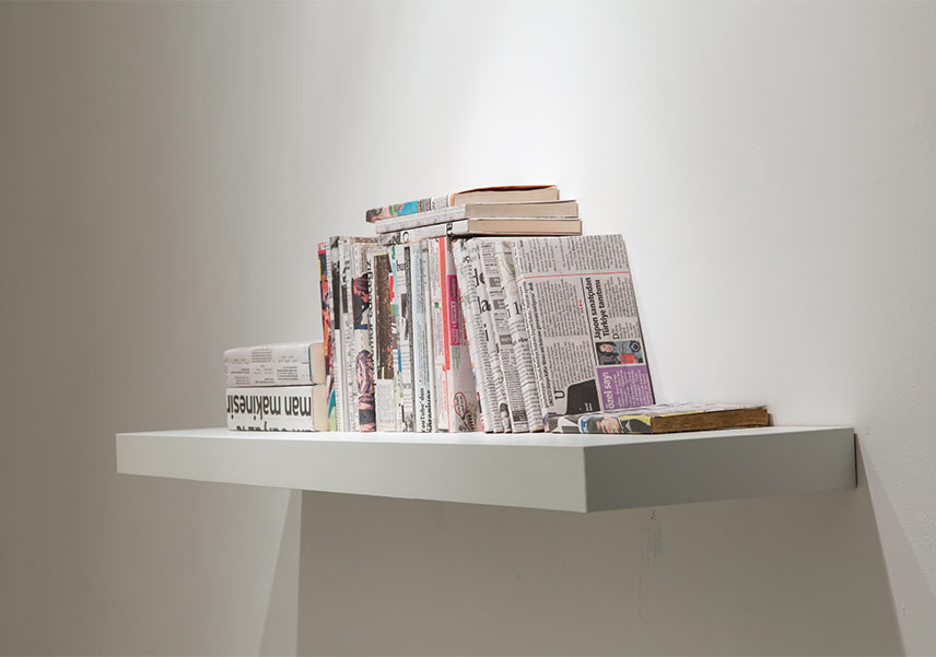 Books Covered With Newspapers |Installation |26 Book |2015