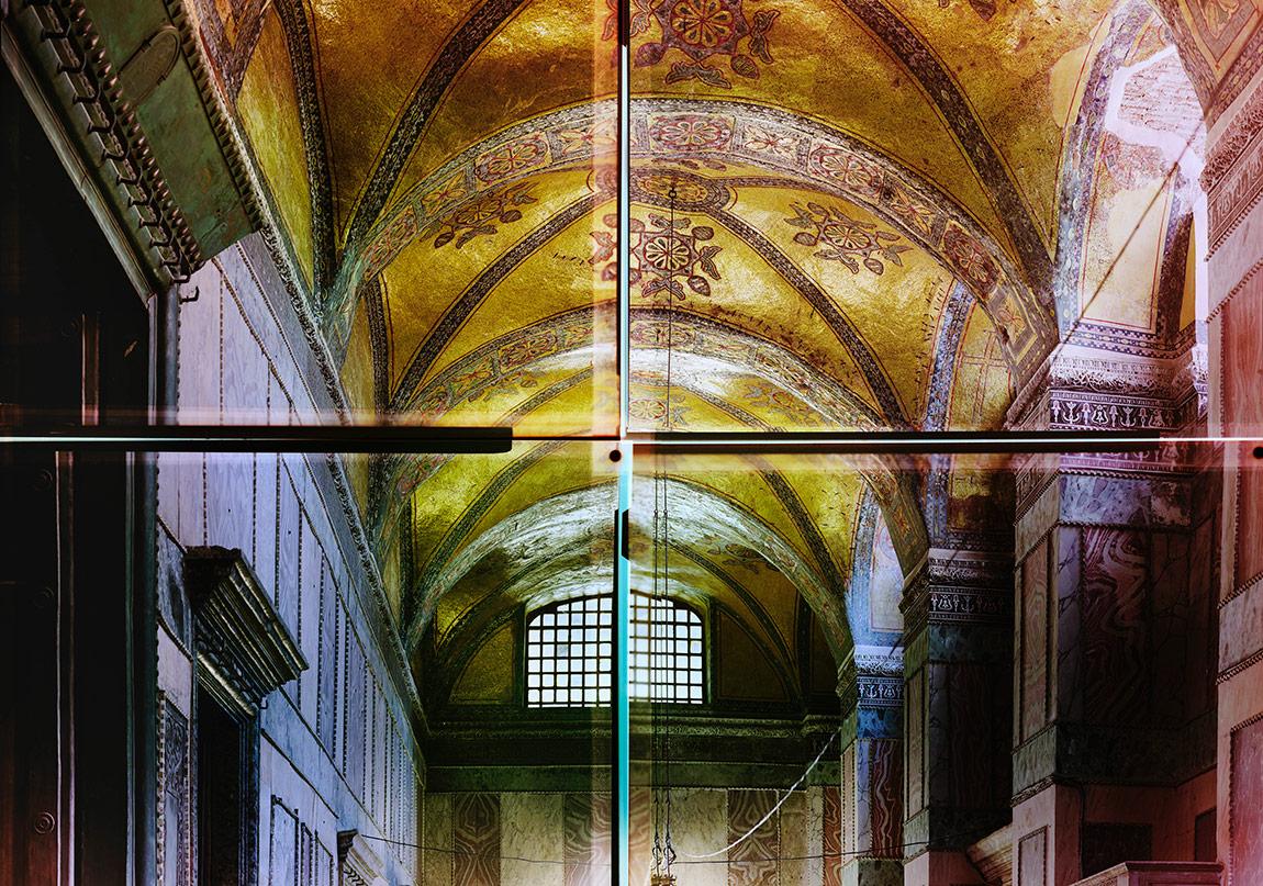 Ola Kolehmainen, Hagia Sophia year 537 XIV, 2014 , 193 x 240 cm, Quadriptych, c-print