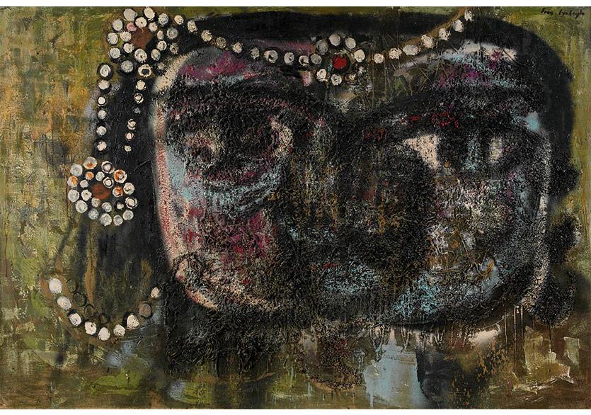 Portre, 1968 Tuval Üzerine Karışık Teknik
