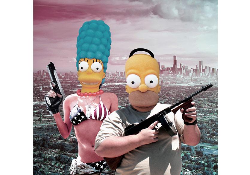 Make Springfield Grat Again 100x100cm