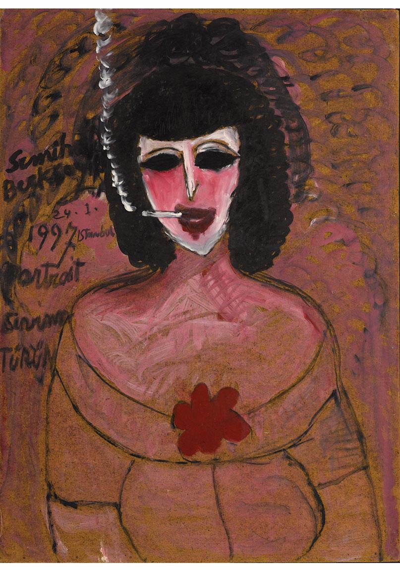Semiha Berksoy, 'Sevim', 1997, duralit üzerine yağlıboya, 90 x 65 cm