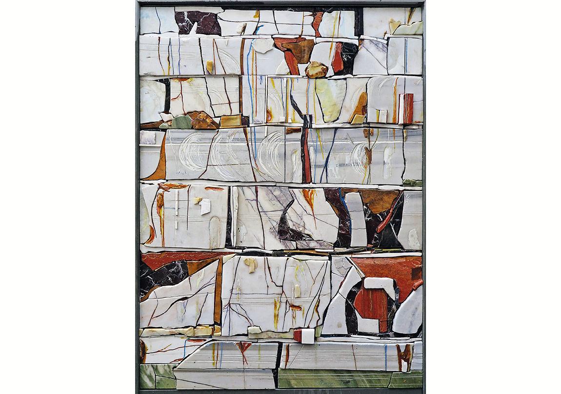 İsimsiz, mermer rölyef, 220 x 165 x 10 cm, 2014
