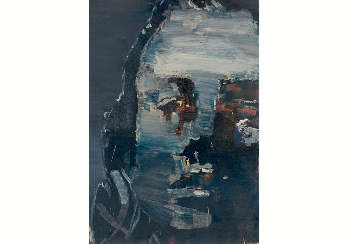 Horasan, İsimsiz, 2016. Kâğıt üzerine yağlıboya, 100x70 cmHorasan, Untitled, 2016. Oil on paper, 100x70 cm