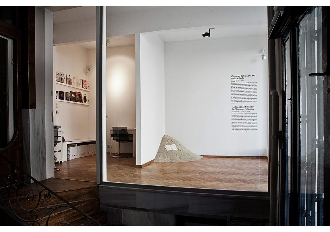 Dominique Gonzalez-Foerster,İsimsiz (Bolaño),2011.Cervantes Koleksiyonu'nda Vahşi Hafiyelerisimli sergiden, 2013.Fotoğraf: Sevim Sancaktar.