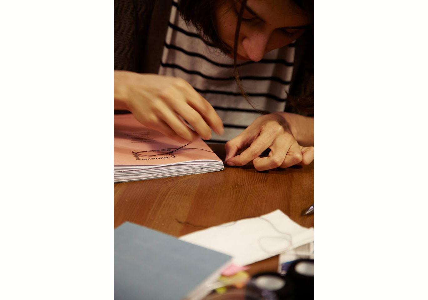 Türkiye'ye Yolculuk'un maket kitap üretim aşamasındaFotoğraf: Júlia Soler