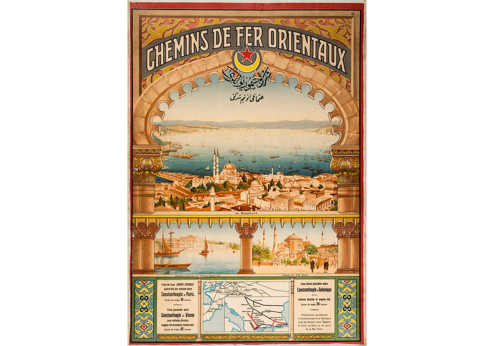 Chemins de fer Orientaux afişi, Anonim, Pierre de Gigord Koleksiyonu.