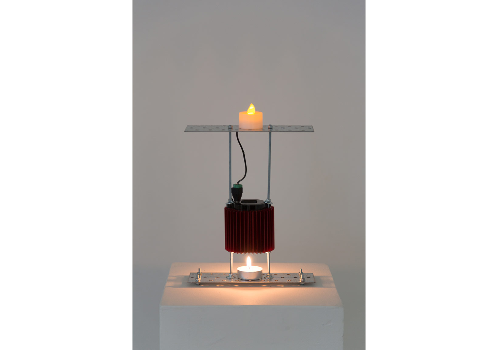 Prometheus Electronic(candle version), 2013, Candle thermoelectric generator electric candle, 30x20x6cm, Ed.3-3 +AP