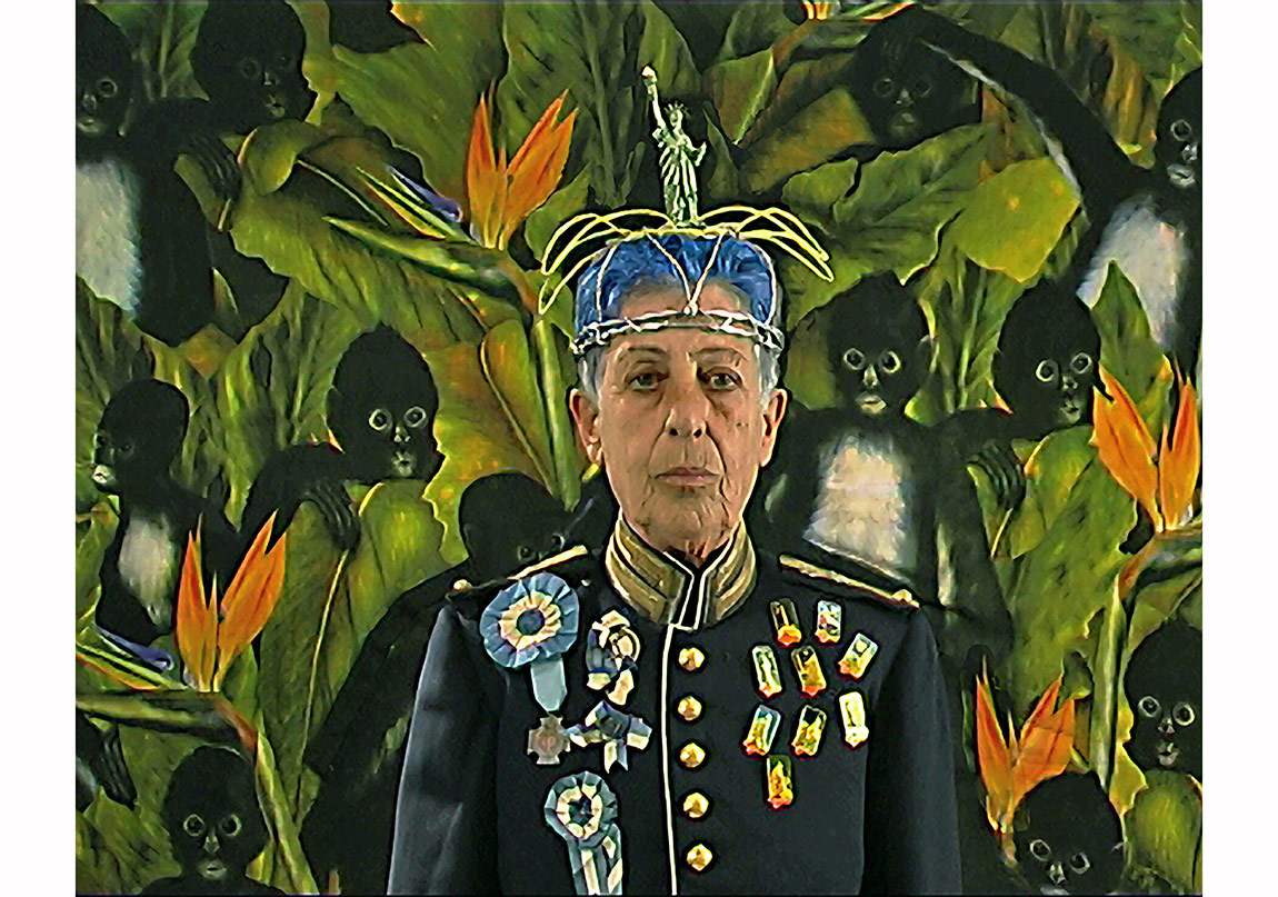 Eleni Mylonas, The Town Crier, Video Still, 2014, Digital Print on archival paper, 60x75 cm, Courtesy: Françoise Heitsch and the artist