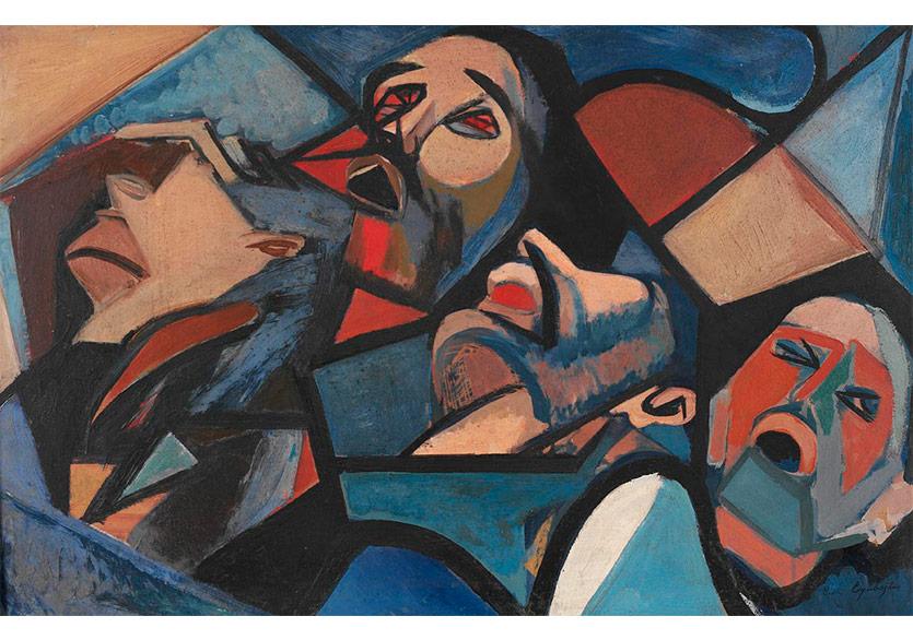 Haykırış, 1954 Tuval Üzerine Yağlıboya