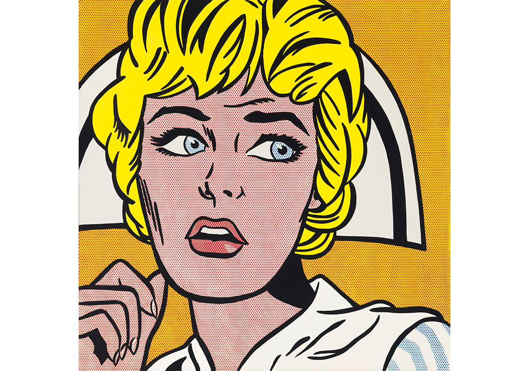 "Roy Lichtenstein, ""Nurse"" (1964), Christie's New York'un izniyle."