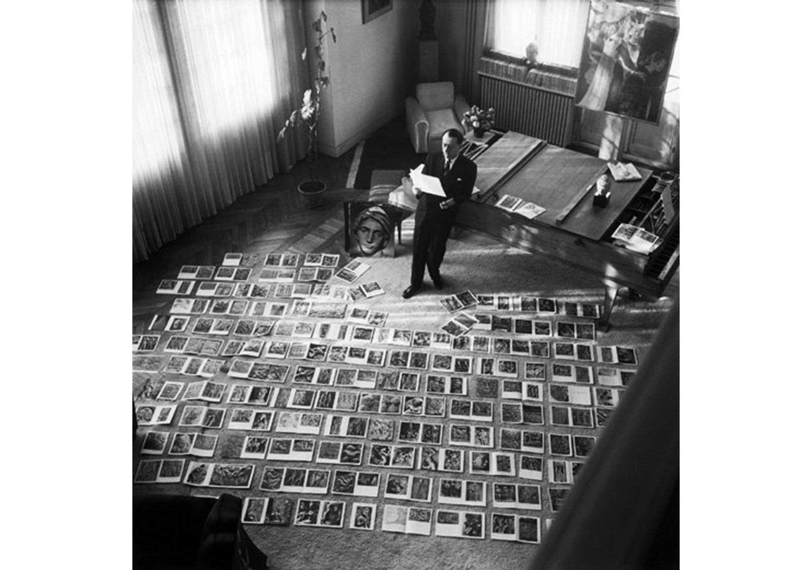 André Malraux Hayali Müzesi için imaj seçerken,1947
