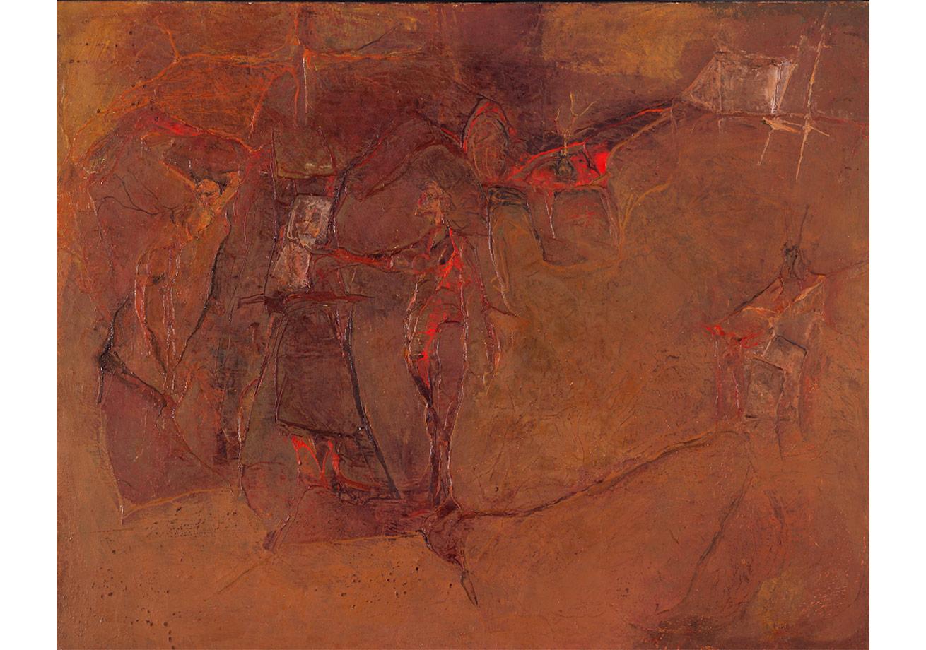 Atölye,Tuval üzerine yağlı boya,65 x 81 cm,Oya-Bülent Eczacıbaşı Koleksiyonu