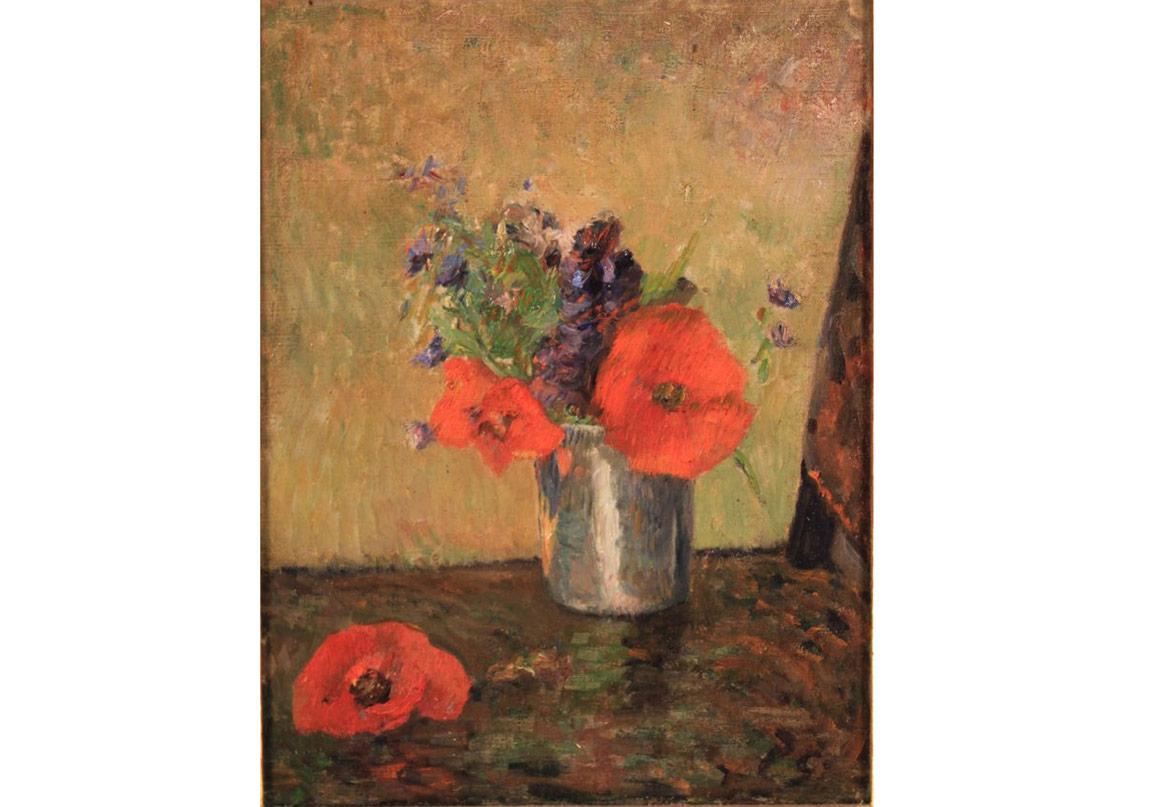 Paul Gauguin,Fleurs D'Ete Dans Une Goblet, 1885