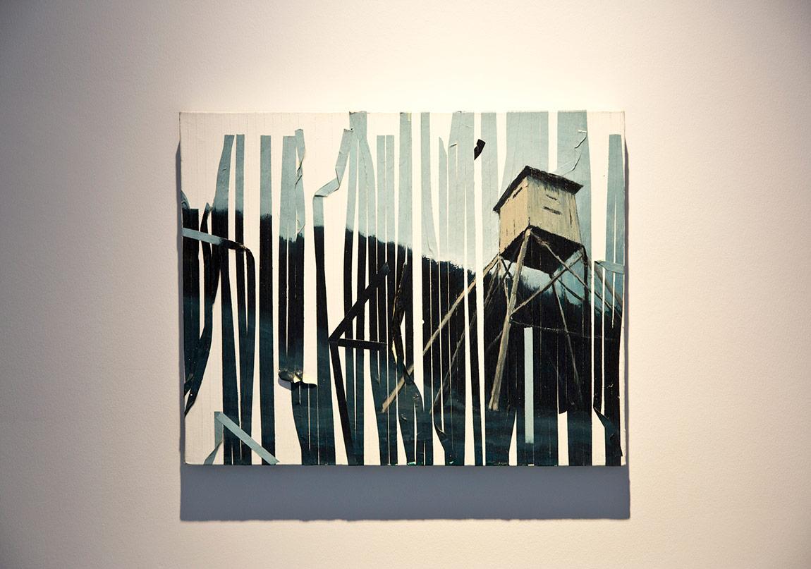 Mito Gegic, Devlet Benim, 2014, Akrilik tuval üzerine yapışkanlı bant 40x50cm