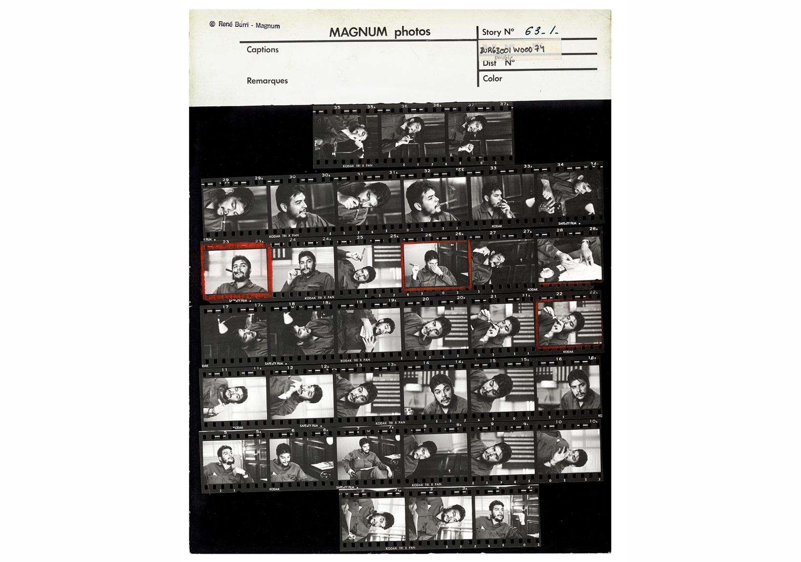 © René Burri/Magnum Photos,Havana, Küba, 1963. Arjantin doğumlu Küba Endüstri Bakanı Ernesto 'Che' Guevara, çalışma ofisinde verdiği özel söyleşi sırasında. Kontakt Baskı.