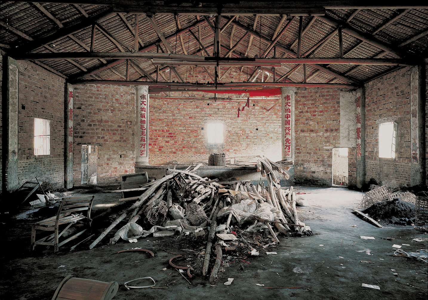 Shao Yinong & Mu Chen,The Assembly Hall Series, Xiaju 120cm×88cm color photograph 2003 edition: 8+2AP
