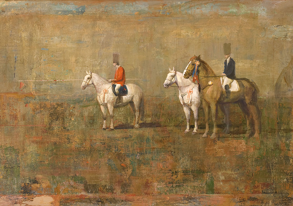 Osmanlı Bosnası (2002) Tuval üzerine yağlıboya, 80 x 130 cm The Ottoman Bosnia (2002) Oil on canvas, 80 x 130 cm