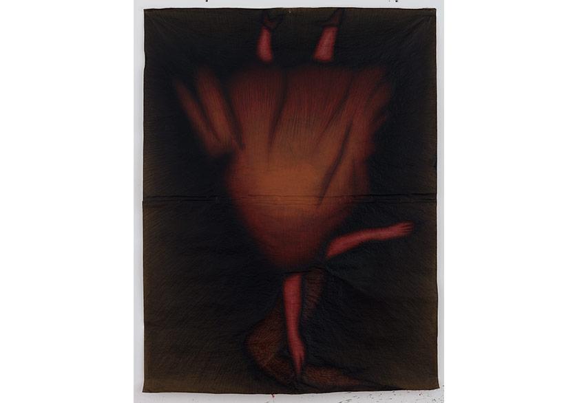 GÜÇLÜ ÖZTEKİNTers Kadın, 2016Kraft kağıdı üzerine akrilik200 x 151 cm