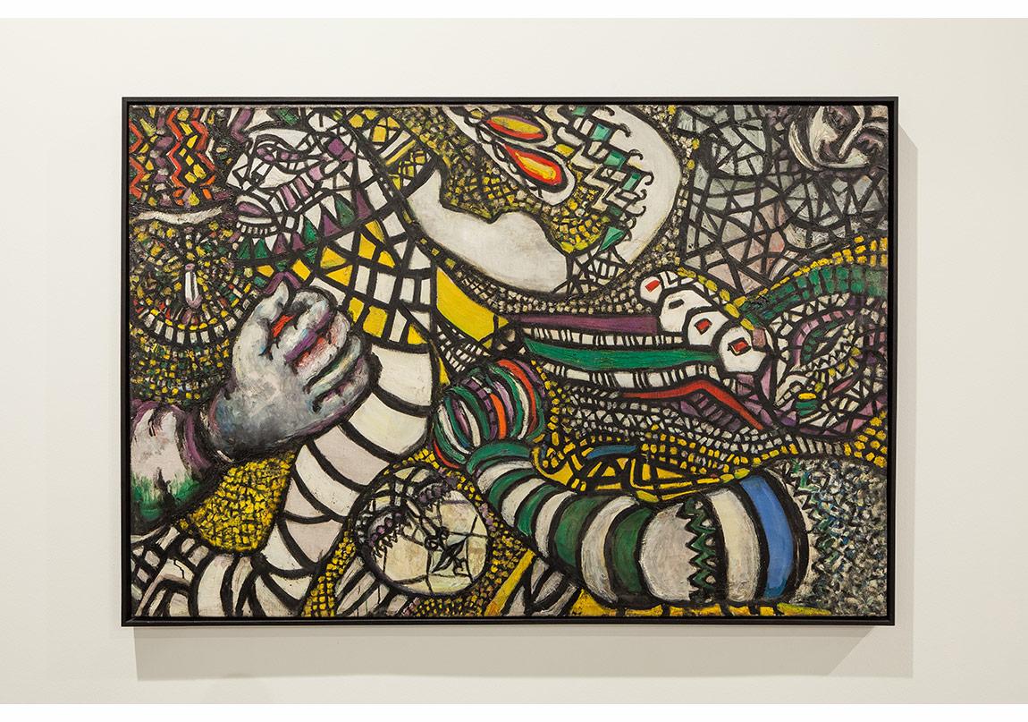 Fahrelnissa Zeid, Soyuta Karşı Mücadele, 1947, Tuval Üzerine Yağlıbouya, 101x151 cm, İstanbul Modern Sanat Müzesi Koleksiyonu
