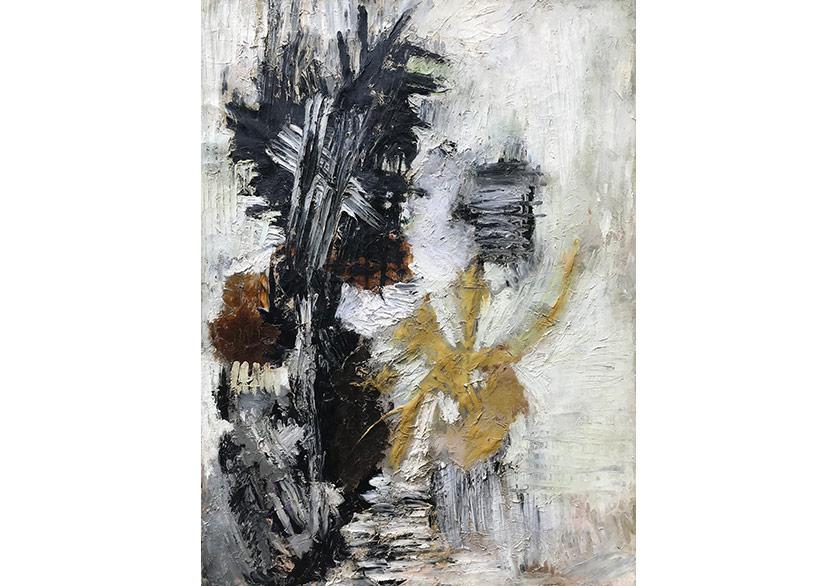 Mübin Orhon, 'İsimsiz', 1954, Tuval üzerine yağlıboya 100 x 74 cm