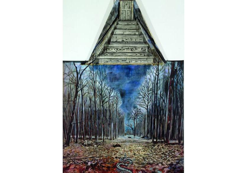 Resurrexit, 1973Huile, acrylique et fusain sur toile de jute 290 x 180 cmSanders Collection, Amsterdam© Atelier Anselm Kiefer
