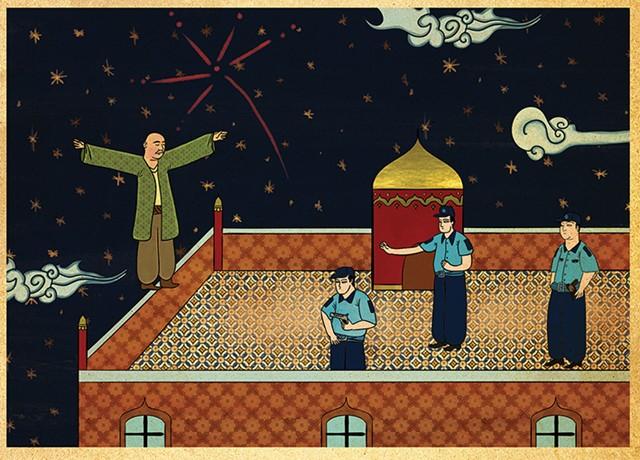 """Murat Palta""""Eşkıya""""Fine art kağıt üzerine mono baskı, 60 x 85 cm, 2014"""