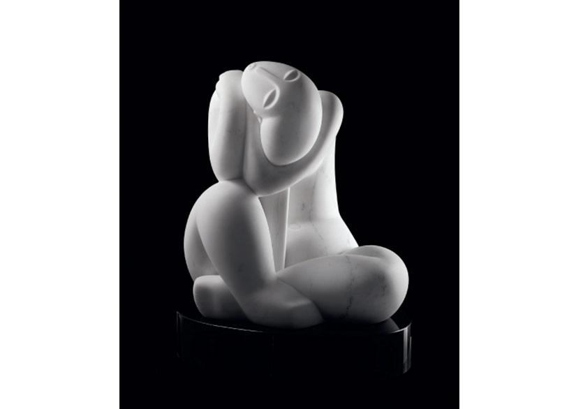 Brazilian Woman, 2014 Marble 52 x 43 x 36 cm