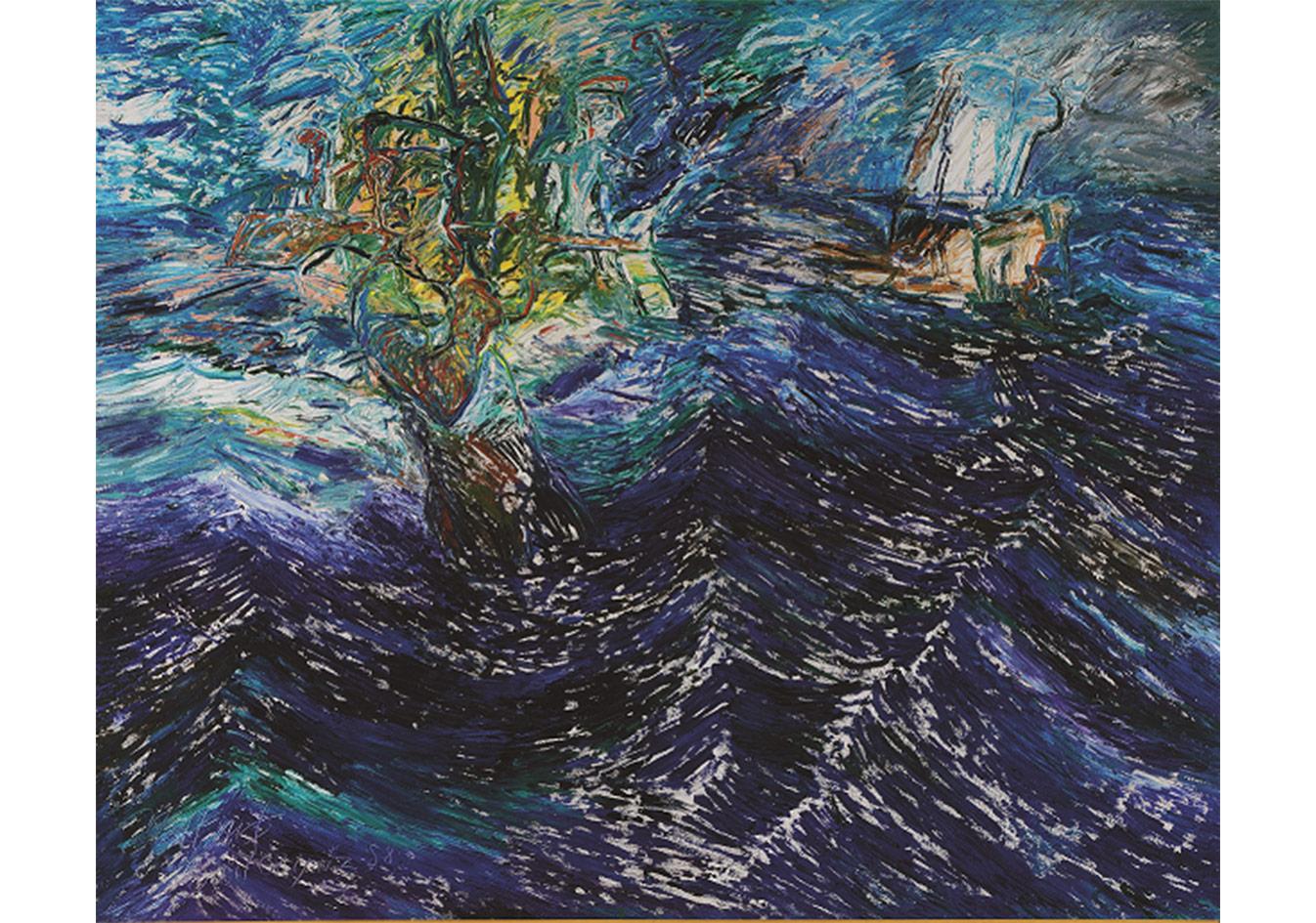 Denizci,Tuval üzerine yağlıboya,130 x 162 cm,Dr. Nejat Eczabaşı Vakfı Koleksiyonu