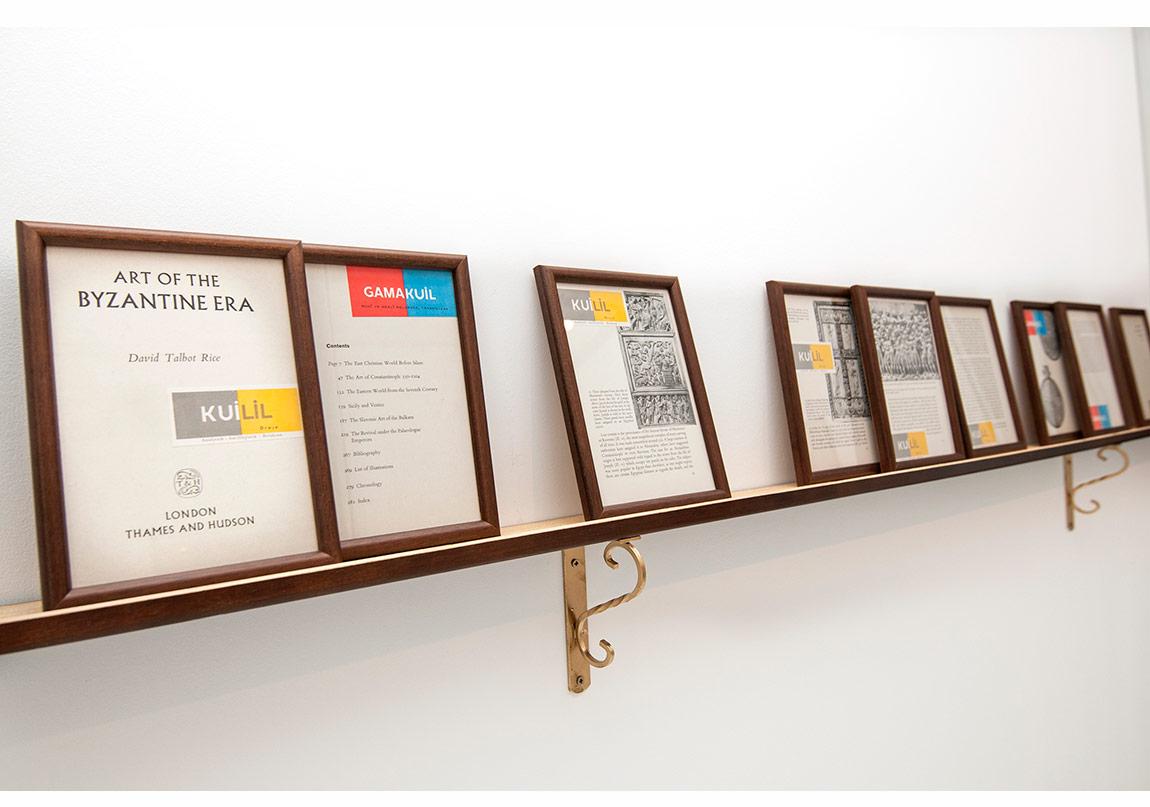 Lara Ögel, 2014, Kuilil/GamakuiliI, çerçevelenmiş buluntu kağıt kolaj / Framed found paper collage, 9 parça / 9 pieces 23x17cm