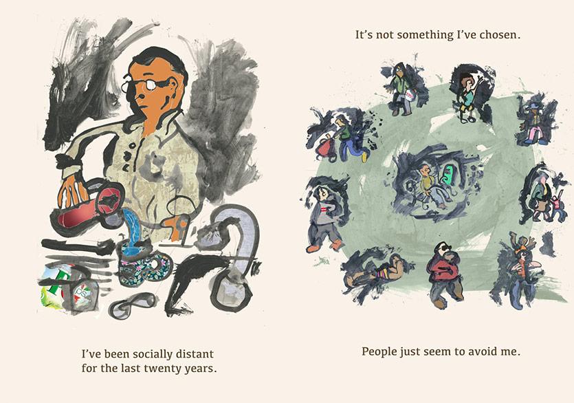 Mark Haddon'dan Koronavirüs Günlerine Bir Grafik Hikâye