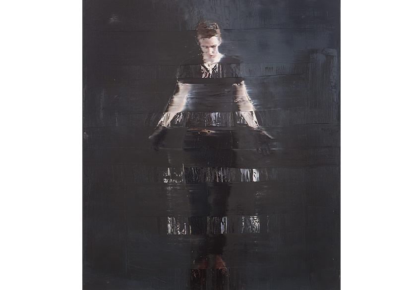 Andy Denzler — Black Hands on Black Tuval üzerine yağlı boya %2F Oil on canvas 210 x 180 cm, 2017
