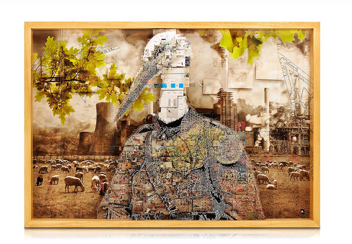 Arda Yalkın, Ben Vatanımla Evliyim, 107x155.5cm, Pigment Baskı Üzerine Karışık Teknik, 2014
