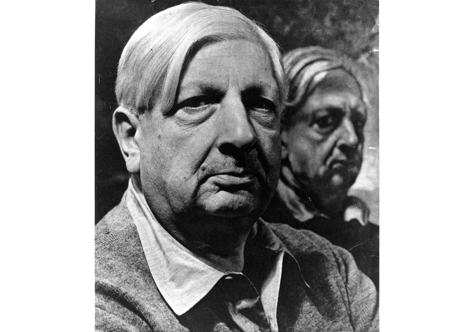 İkili Portre, Zırhlı Otoportre ile birlikte (1948), fotoğraf: Philippe Halsman, 1951Giorgio ve Isa de Chirico Vakfı Koleksiyonu