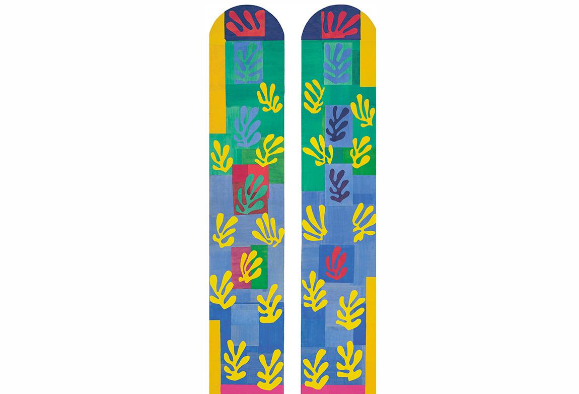 Henri Matisse (1869-1954). Mavi Pencere (Vitrail bleu pâle), Kasım 1948–Ocak 1949. Chapel of the Rosary, Vence Kilisesi için eskiz. Ikili Panel Kağıt üzerine guaş boya (509.8 x 252.3 cm). Musée national d'art moderne/Centre de création industrielle, Centre Georges Pompidou, Paris. Gift of Mme Jean Matisse and Gérard Matisse, 1982. © 2014 Succession H. Matisse / Artists Rights Society (ARS), New York