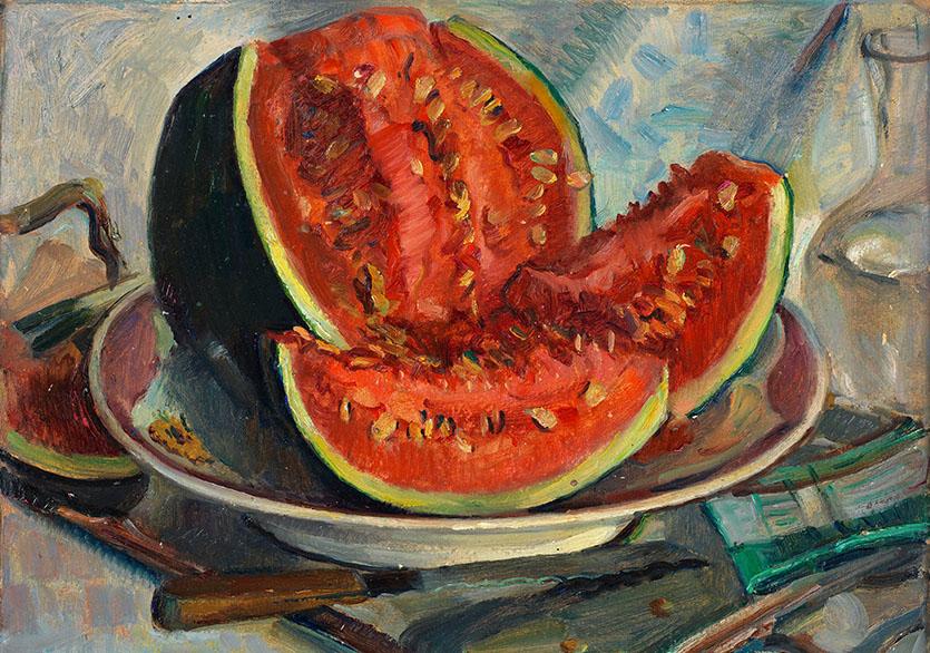 Feyhaman DuranNatürmort, 1943Karton üzerine yağlıboya33 x 41 cmEnv. no. 325/2000İstanbul Üniversitesi Feyhaman Duran Koleksiyonu