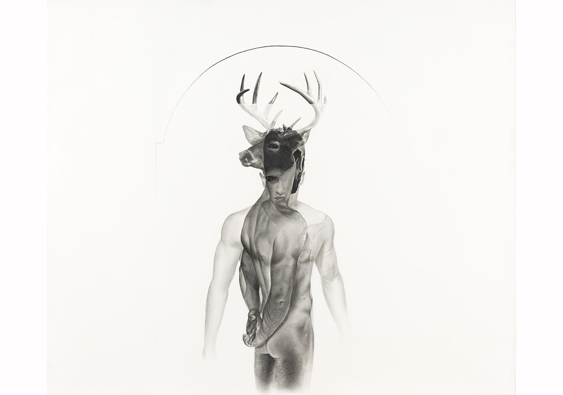 Taner Ceylan, Cyparissus, 2012 graphite and charcoal on paper, 39 5/8 x 47 ½ inches (100.6 x 121 cm). Image courtesy of the artist and Paul Kasmin Gallery