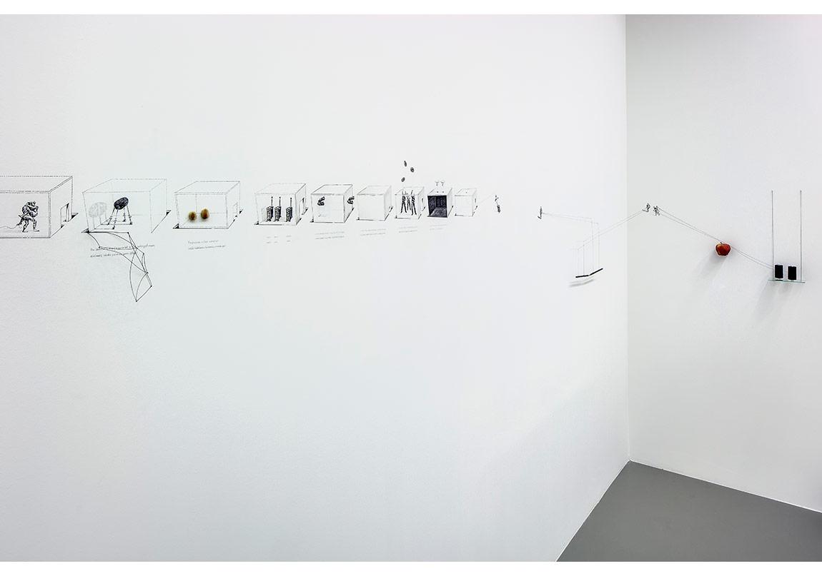 Sandra Boshenstein, Yeniden Canlandırılmış Zaman Sınırları ve Yeniden Yatırım Yapılmış Yürüyüşler,2015Granitin Üzerindeki Çizgiyi Ziyaret,2014,Video, renkli, sessiz ,2'37'', sonsuz döngüFotoğraf: Murat Germen