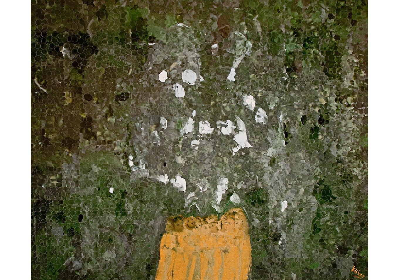 Azade Köker, Bekleyiş, 2011Panel Üzerine Karisik Teknik, 253x213cm(Özel Koleksiyon)