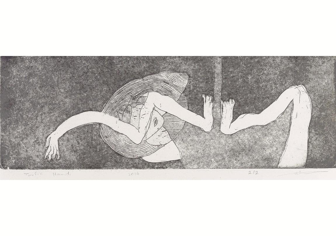 Toufic Hamidi - Give me a tissue 1 2014 10x30 cm, gravür