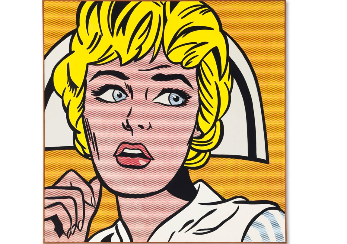 Roy Lichtenstein, Nurse, 1964. Price Realized: $95,365,000. Courtesy of Christie's Images ltd. 2015.