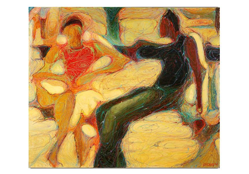 Oksana Mas«Dialogue» (2006) canvas, oil, varnish, pencil 170х190cm