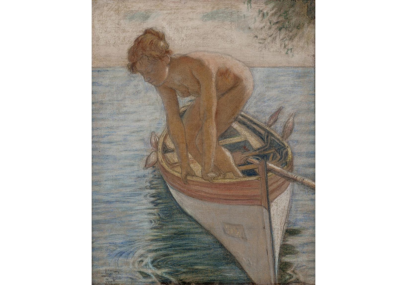 İzzet Ziya, Kayıktaki Kız, yak. 1915.