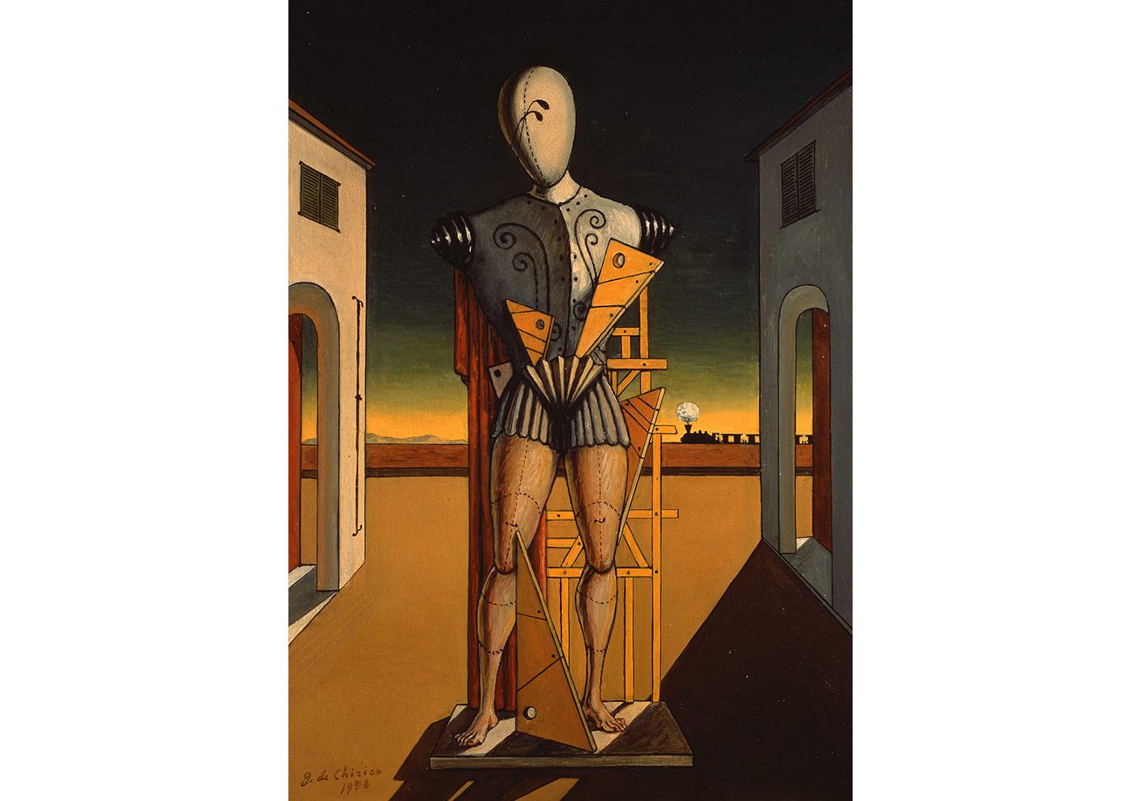 """Ozan (yak. 1972)(""""1938"""" tarihi düşülerek imzalanmıştır) Tuval üzerine yağlıboya, 50 x 40 cm. Giorgio ve Isa de Chirico Vakfı Koleksiyonu"""