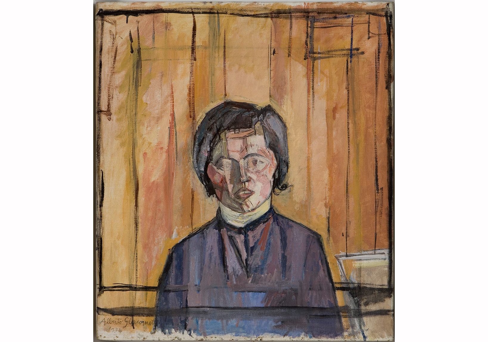 Alberto Giacometti, Maria, 1934 Tuval üstüne yağlıboya / Oil on canvas, 66,4 x 59,1 cm Giacometti Vakfı Koleksiyonu, Paris, env. 1994-0587, Giacometti Foundation Collection, Paris, inv. 1994-0587 © Estate Giacometti (Fondation Giacometti + ADAGP) Paris, 2015
