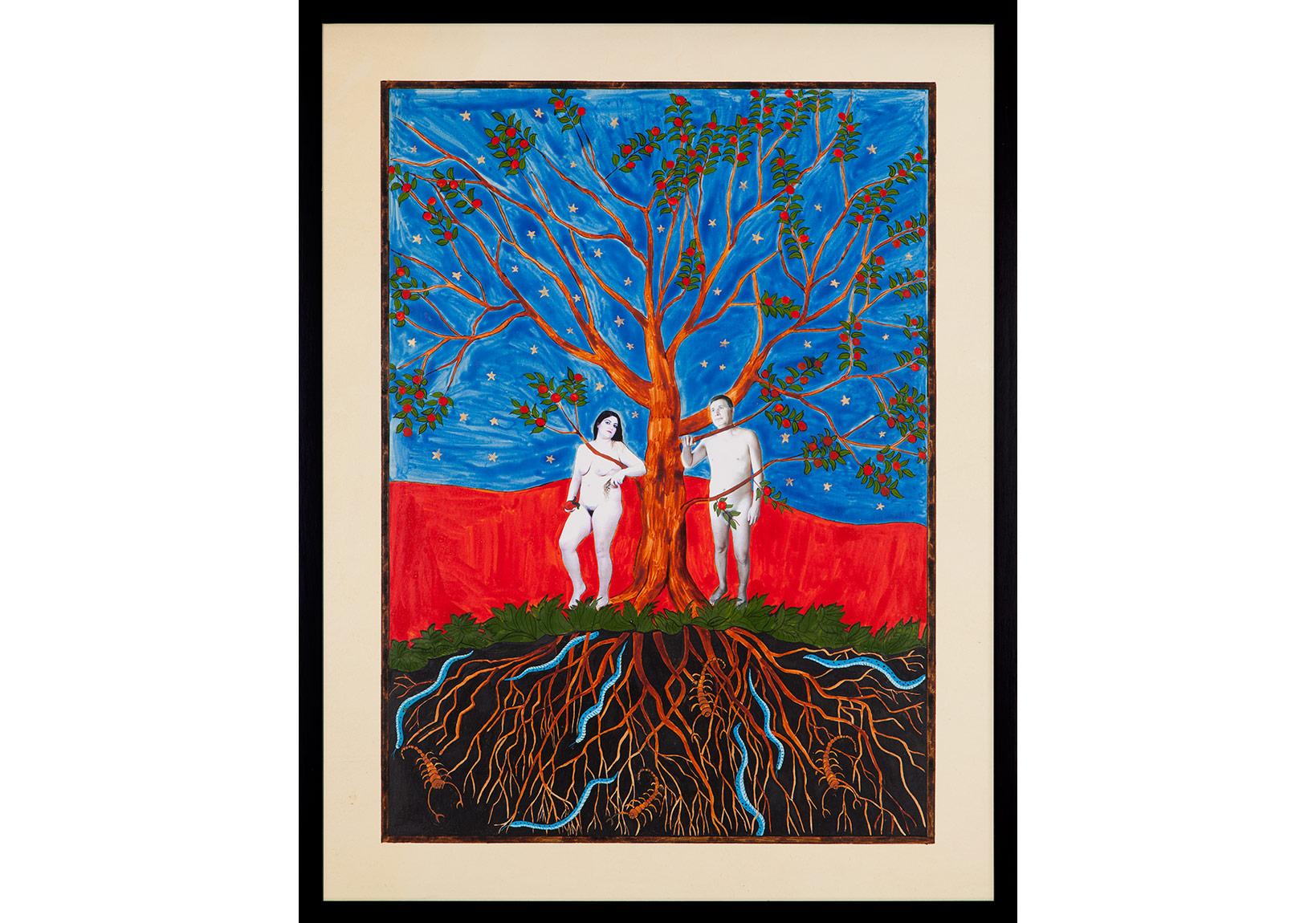 CANAN Hayat Ağacı / The Tree of Life, 2014Aherli kağıt üzerine mürekkep, altın ve fotoğraf / Photograph, gold and ink on special paper65 x 50 x 3.5 cm (çerçeveli/framed)Sanatçı'nın ve Rampa'nın izniyle / Courtesy the artist and RampaFotoğraf / Photograph: André Carvalho and Tugba Karatop - Chroma