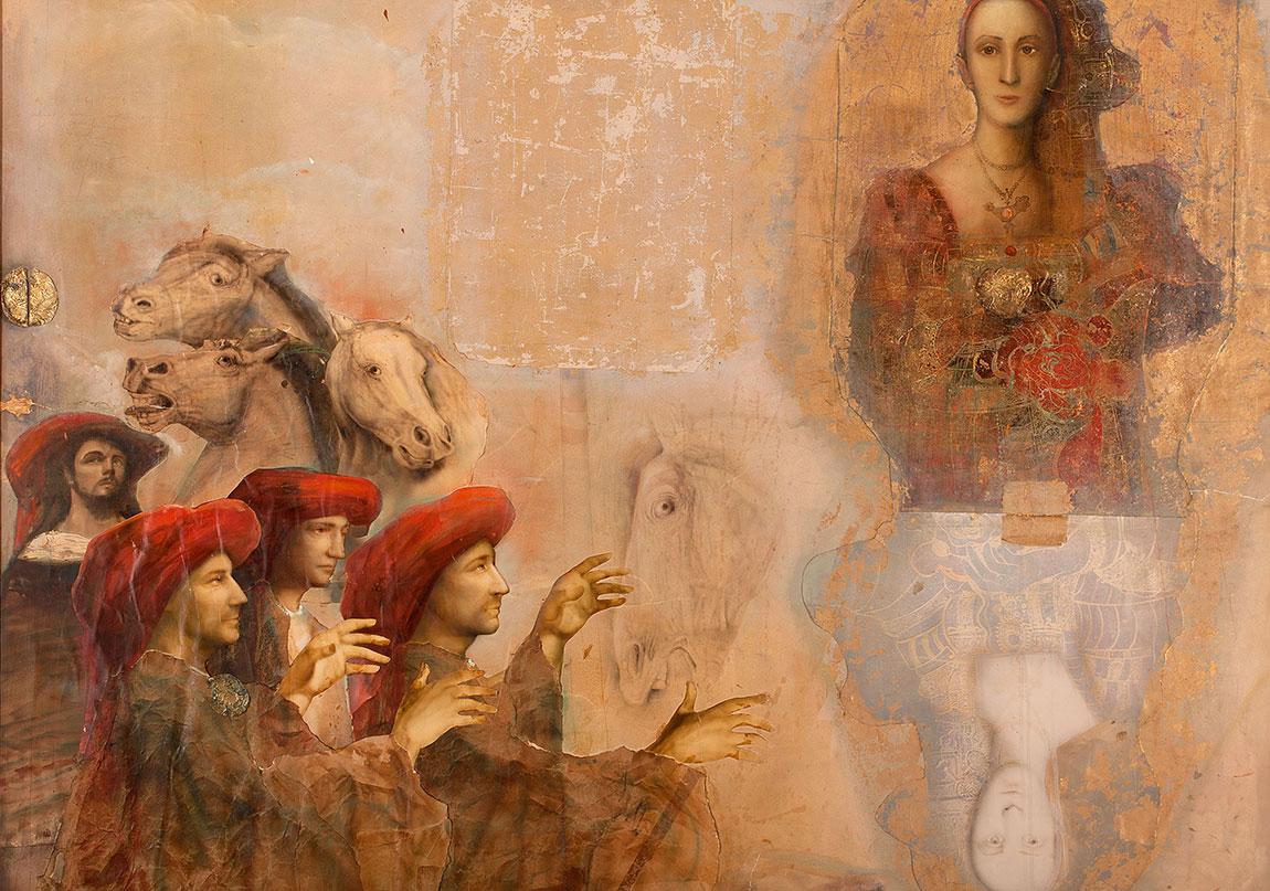 Tempo Secondo – Ada Berber (1985) Kâğıt üzerine yağlıboya ve karışık teknik, 144 x 193 cm Tempo Secondo – Ada Berber (1985) Oil and mixed media on paper, 144 x 193 cm