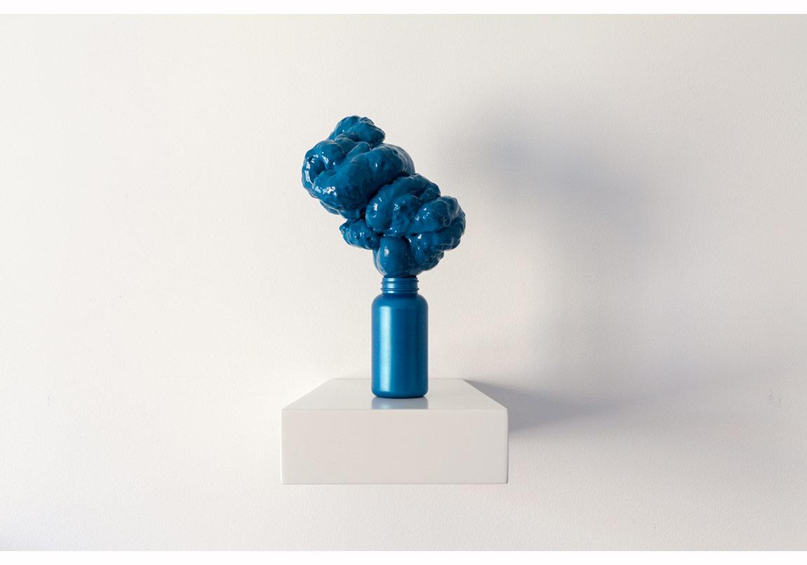 Mana Potion, Sihir İksiri, 2014, 21x36x27 cm, Plastic bottle, PU Foam, epoxy glue, spray paint. Plastik şişe, poliüretan köpük, epoksi yapıştırıcı, sprey boya