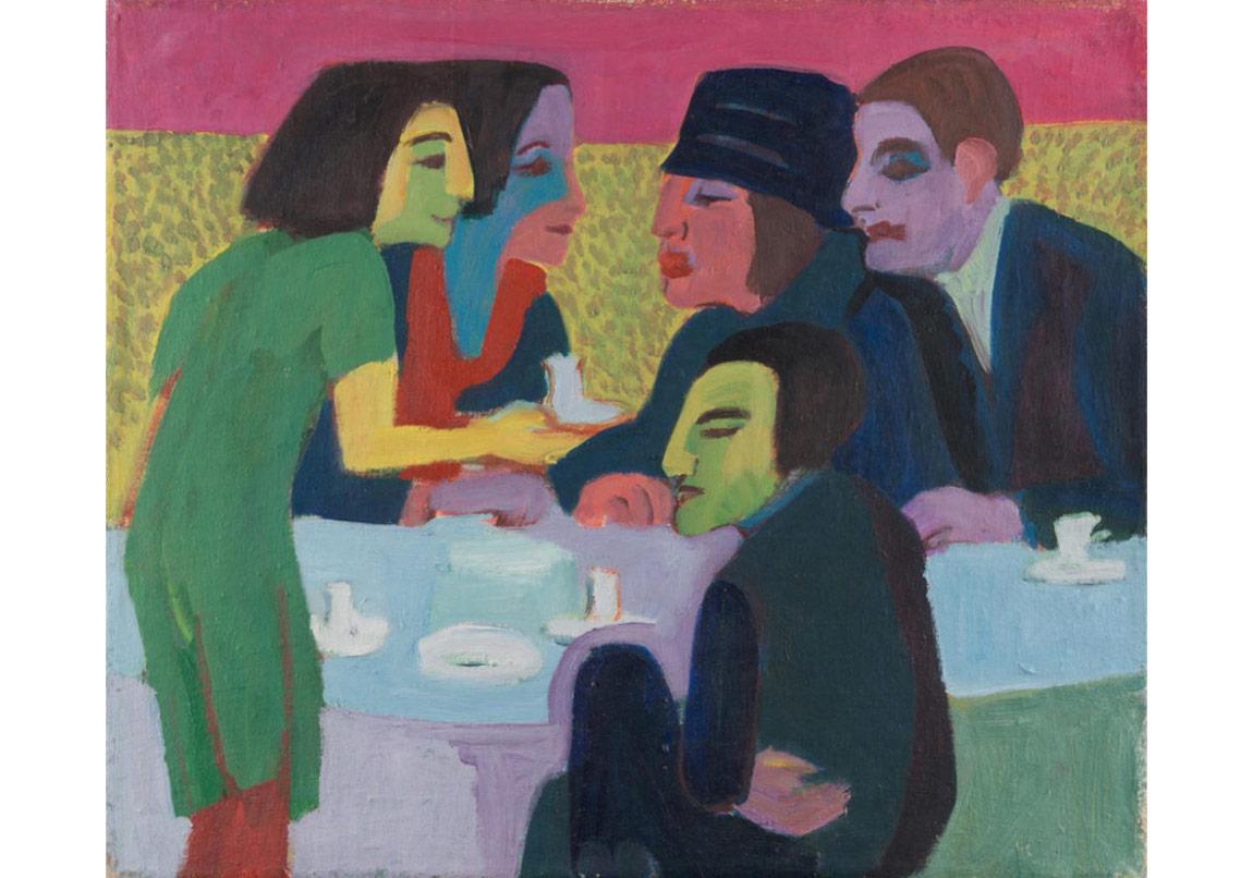 Ernst LudwigKirchner,Szene im Café, 1926